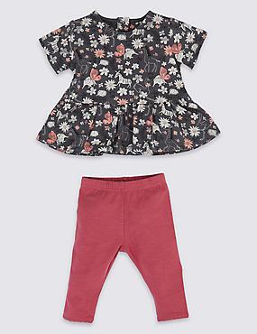 3e8ca999b98f8 2 Piece Jersey Top   Bottom Outfit