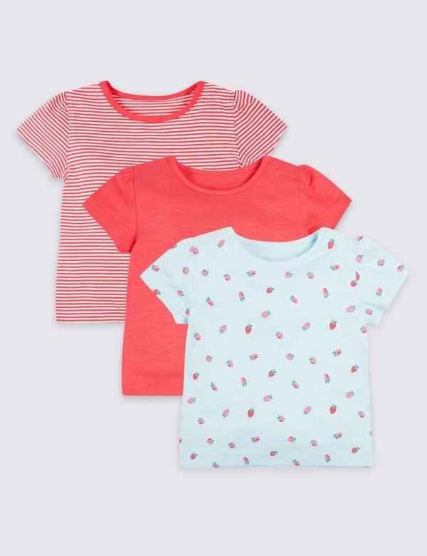 3 Pack Organic Cotton T-Shirts f052bb27d