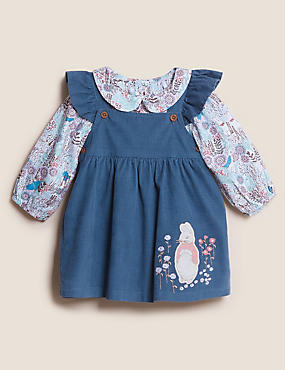 2pc Pure Cotton Cord Peter Rabbit™ Outfit (0-3 Yrs)