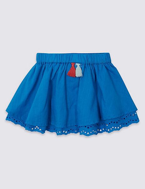 Pure Cotton Tassel Skirt