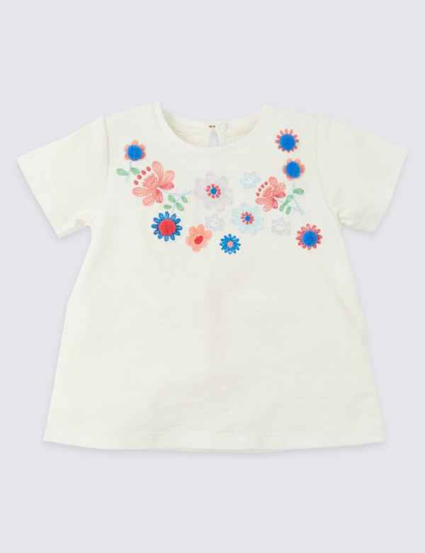 Age 6-9 Months Girls White Green Blouse Silver Cotton Spring Summer Holiday Orders Are Welcome. Baby & Toddler Clothing Girls' Clothing (newborn-5t)