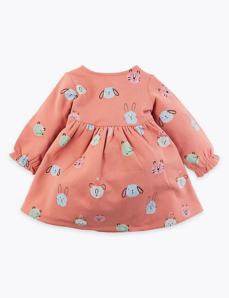 Cotton Rich Animal Print Dress