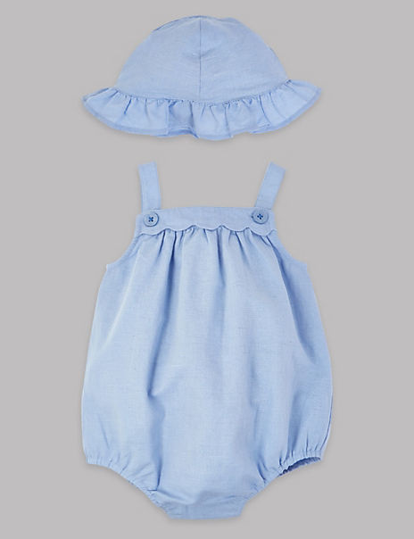 2 Piece Romper with Hat