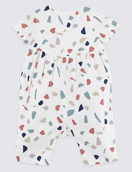 Cotton Geometric Print Outfit