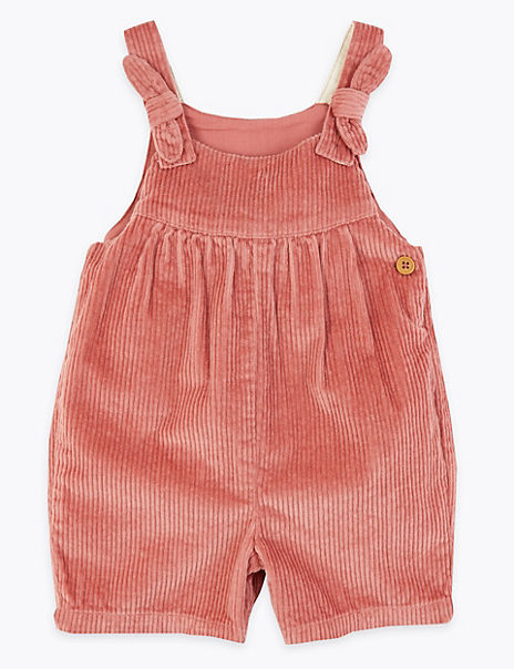 Cord Bow Playsuit