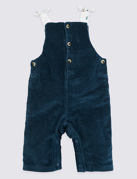 Courdroy Bow Dungarees