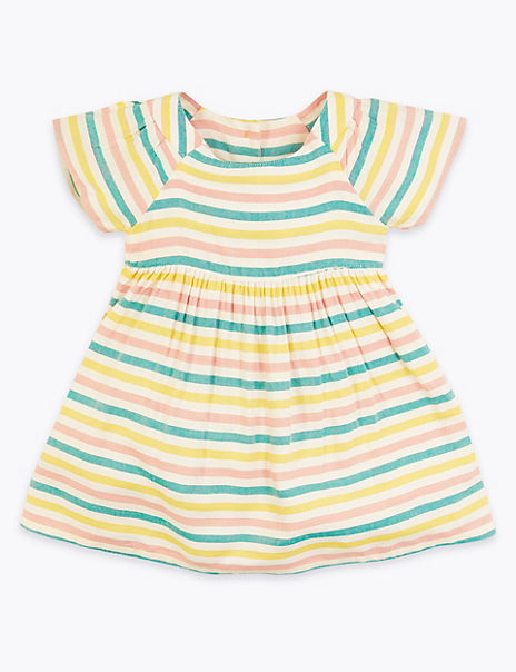 Striped Short Sleeve Dress (0-3 Years)