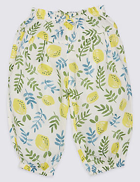 All Over Lemon Print Woven Trousers