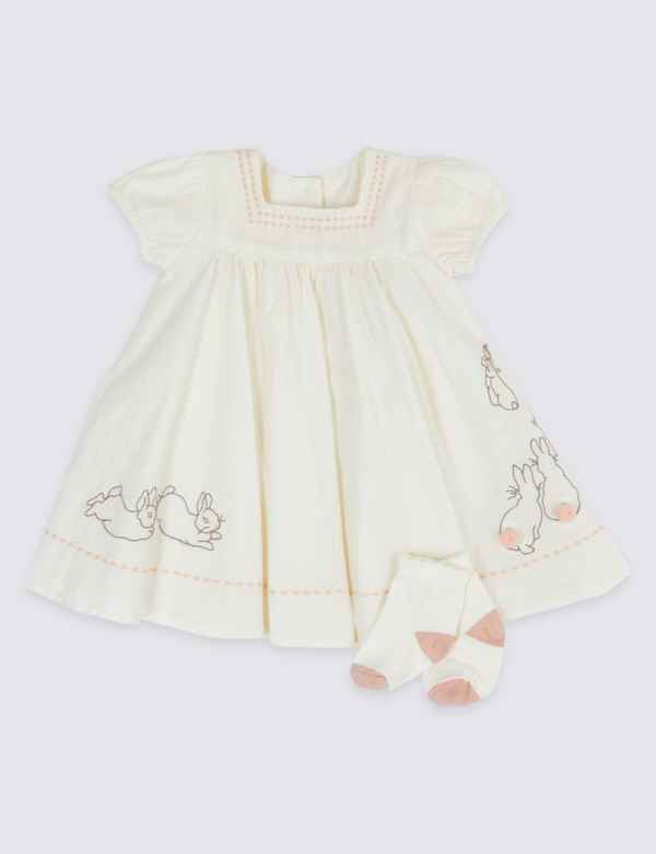 286b6bc4c532 2 Piece Peter Rabbit™ Dress with Socks