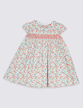 Ditsy Floral Print Pure Cotton Baby Dress