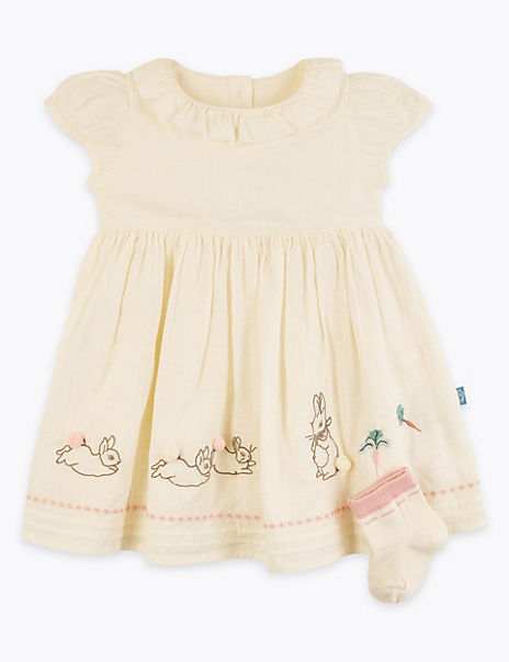 2 Piece Cotton Rich Peter Rabbit™ Outfit (0-3 Yrs)