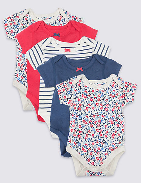 5 Pack Organic Cotton Bodysuits