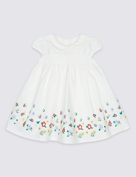 Pure Cotton Embroidered Baby Dress
