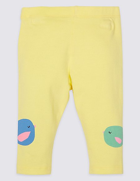 Cotton Fish Print Leggings with Stretch