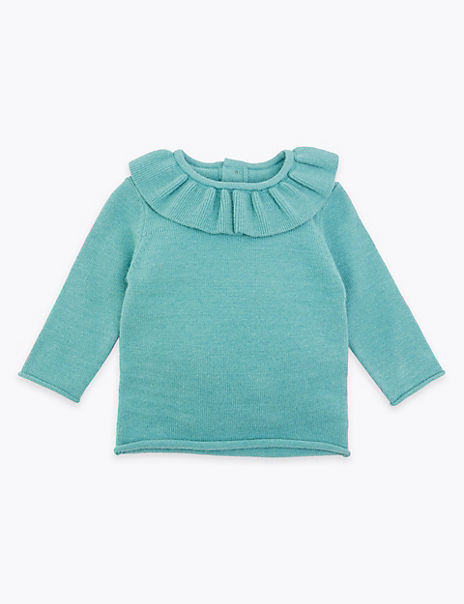 Knitted Frill Collar Top