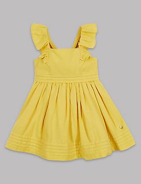 Cotton Rich Frill Sleeve Dress