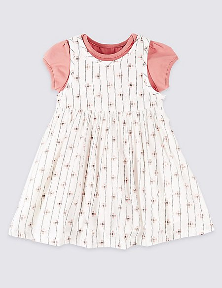 2 Piece Pinafore with Bodysuit