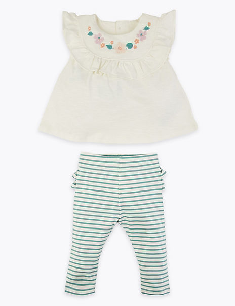 2 Piece Cotton Outfit (7lbs-12 Mths)