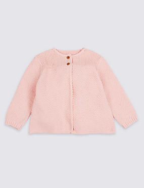 Pure Cotton Crochet Stitch Cardigan