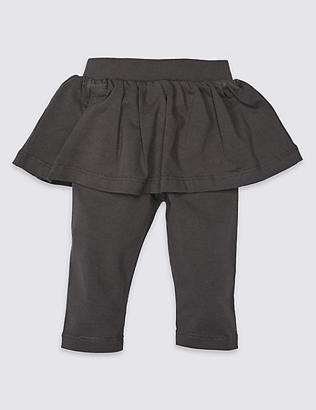 Cotton Skirt & Leggings with Stretch