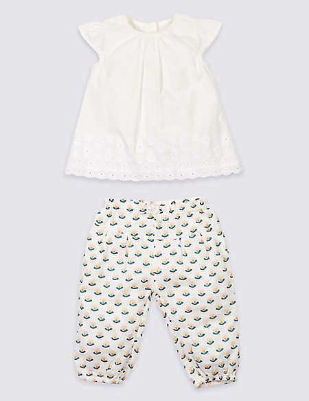 2 Piece Woven Top & Trousers Outfit