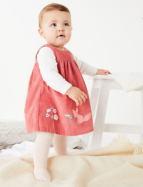 3 Piece Cotton Embroidered Dress