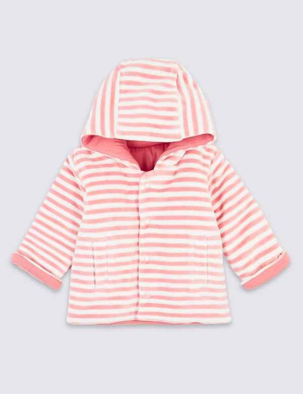 bn ex store girls pink hooded fleece top jumper 0,1,3,6,9,12,18 months