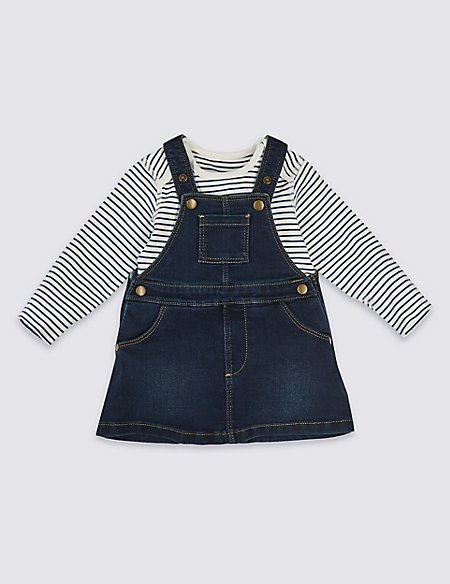 2 Piece Denim Pinny & Bodysuit
