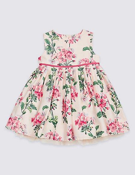 Pure Cotton Floral Print Dress