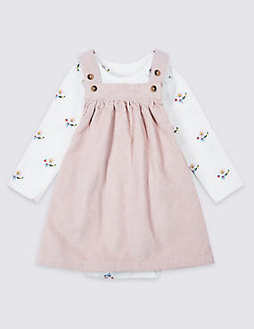 2 Piece Pure Cotton Piny Dress & Bodysuit