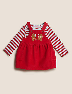 2pc Pure Cotton Cord Pinnie Outfit (0-3 Yrs)