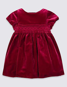 Velvet Smocked Dress