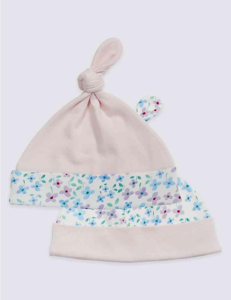 9e0e1e5e6db 2 Pack Pure Cotton Printed Hats