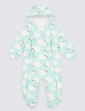 All Over Hedgehog Print Pramsuit