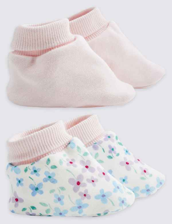 1fcf5fc669d5 2 Pack Pure Cotton Booties