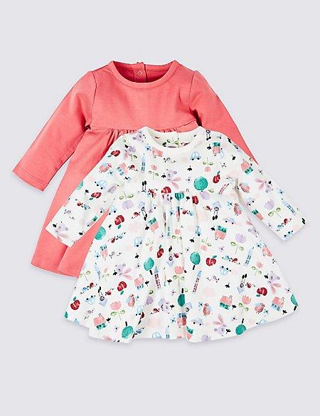 2 Pack Cotton Rich Jersey Dress