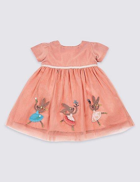 Velvet Applique Dress