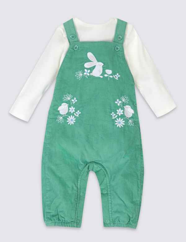 66eee1f2 2 Piece Dungarees & Bodysuit Outfit