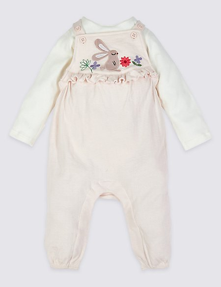 2 Piece Dungrees & Bodysuit Outfit