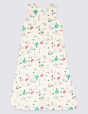 Pure Cotton Printed 2.1 Tog Sleeping Bag