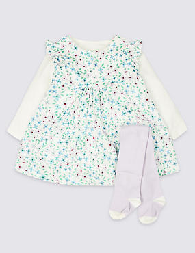 f8485d8b46948 3 Piece Cord Dress & Bodysuit with Tights ...