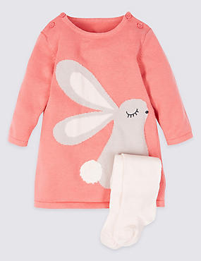 2 Piece Bunny Dress with Tights