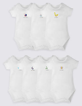 7 Pack Days of the Week Bodysuits
