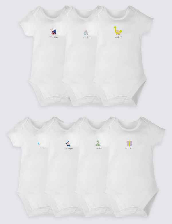 556fc20b9756 7 Pack Days of the Week Bodysuits