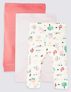 3 Pack Pure Cotton Leggings