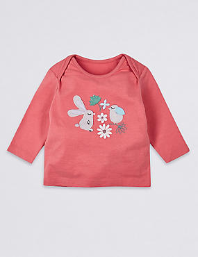 Pure Cotton Bunny Applique Top
