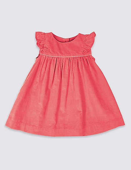 Pure Cotton Frill Sleeve Dress