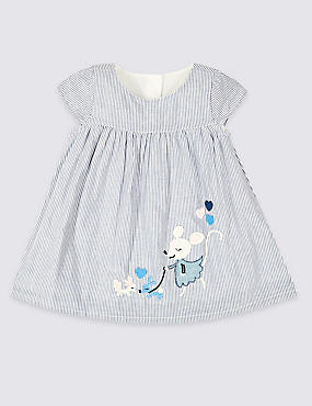 Pure Cotton Applique Dress