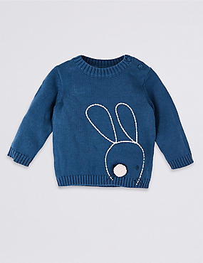 Pure Cotton Bunny Jumper