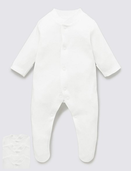 3 Pack Tiny Sleepsuits
